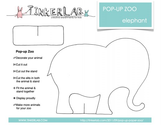 Pop Up Zoos : Pop up paper zoo free download tinkerlab