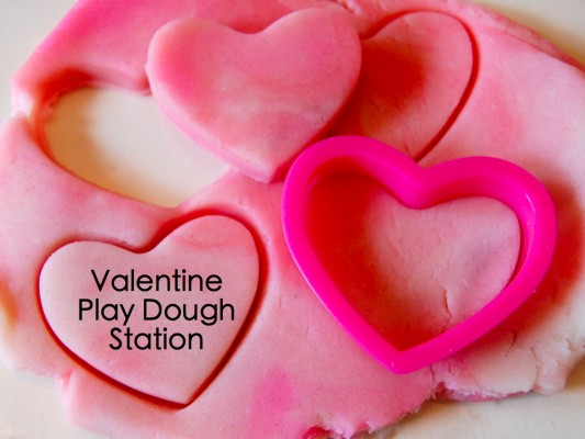 valentine play dough station