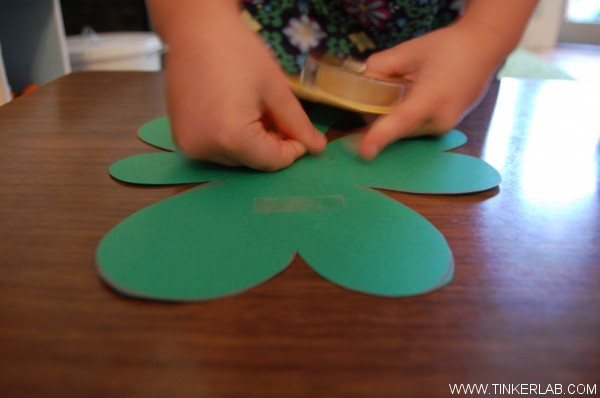 tape shamrocks for photo booth