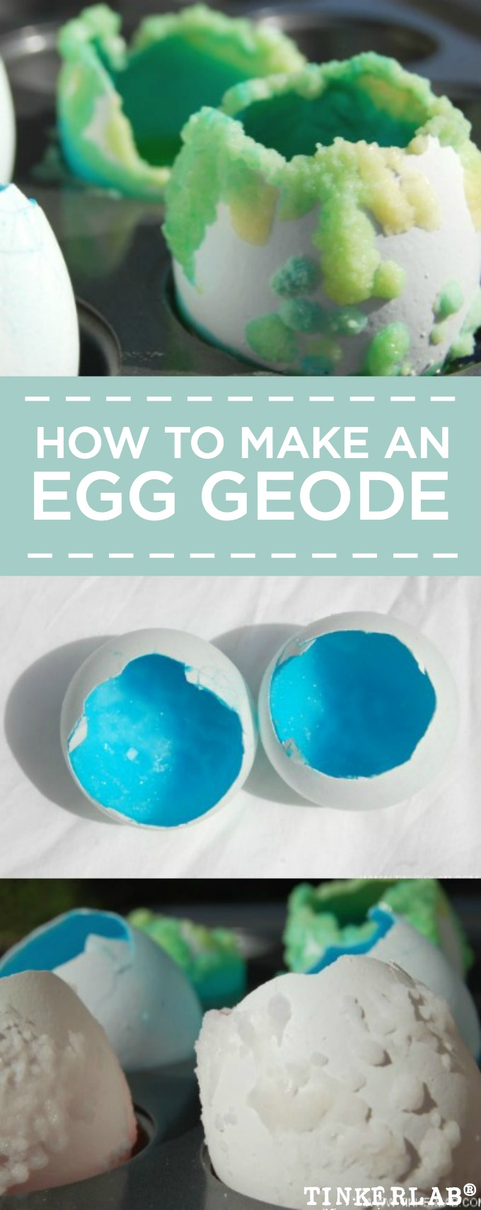 How to make an egg geode with salt and borax.