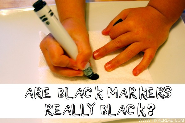 are black markers really black chromatography