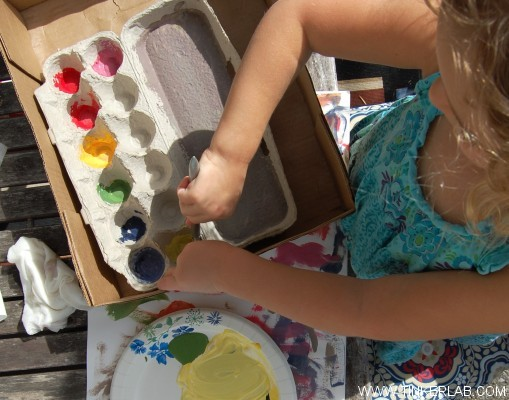 Painting Egg carton