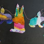 spring art bunny garland