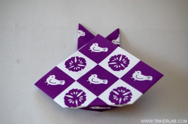origami rabbit steps