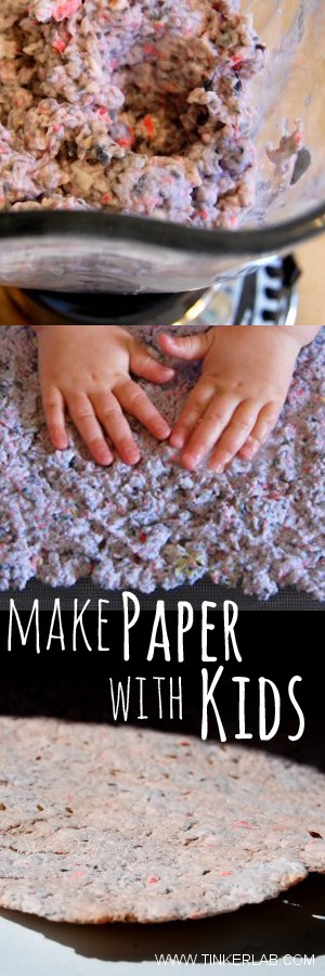 Easy step for making paper with kids