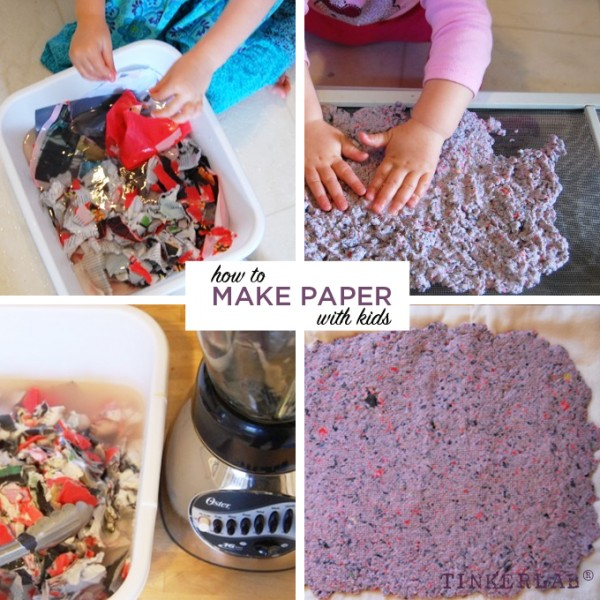 How to make paper with kids | TinkerLab