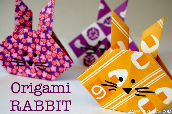 How to make a paper rabbit egg holder | origami rabbit egg holder ... | 400x600