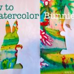 How to Watercolor Bunnies with Kids