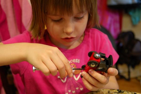 taking toys apart tinkering