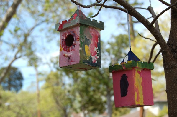 Summer Camp Craft: Paint Birdhouses