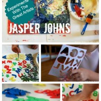 jasper johns kids art project