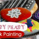 Easy Peasy Rock Painting