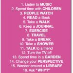 21 Ways to Get Creative