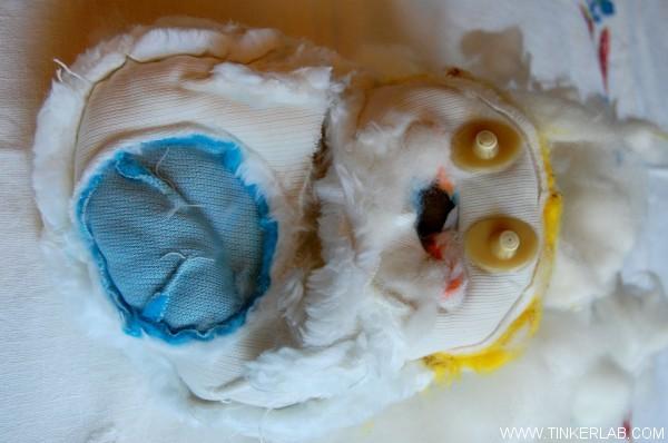 tinker with stuffed animal