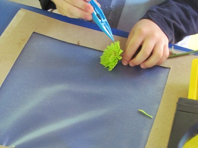 fine motor skills flower plucking