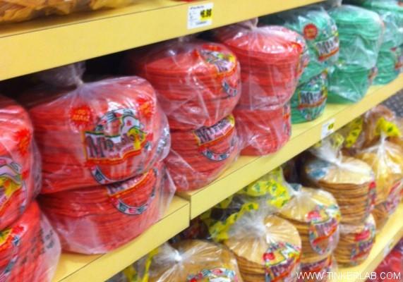 colorful tortillas