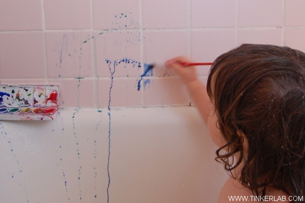watercolors kids bath