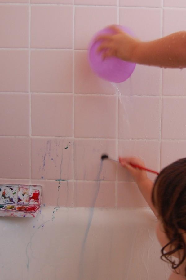 watercolors kids bath