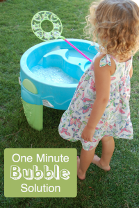 how to make a one minute bubble solution