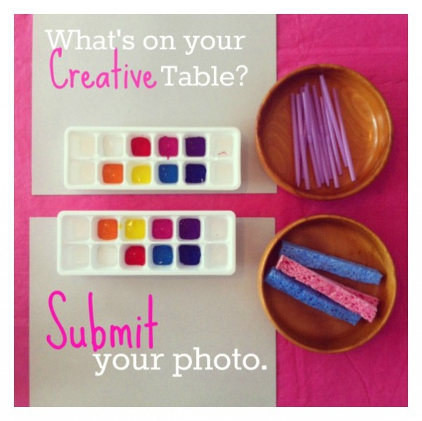 what's on your creative table at tinkerlab