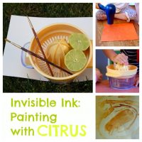 invisible ink science activity kids