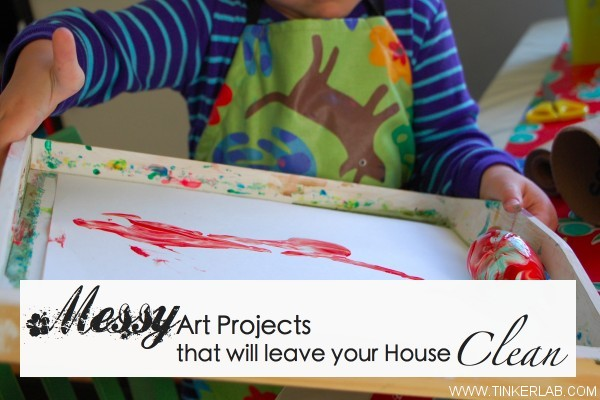 messy art projects that leave your house clean