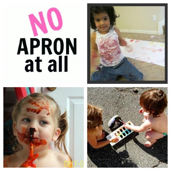 no apron for kids