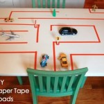 paper tape road kids play
