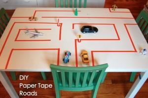 paper tape road kids play