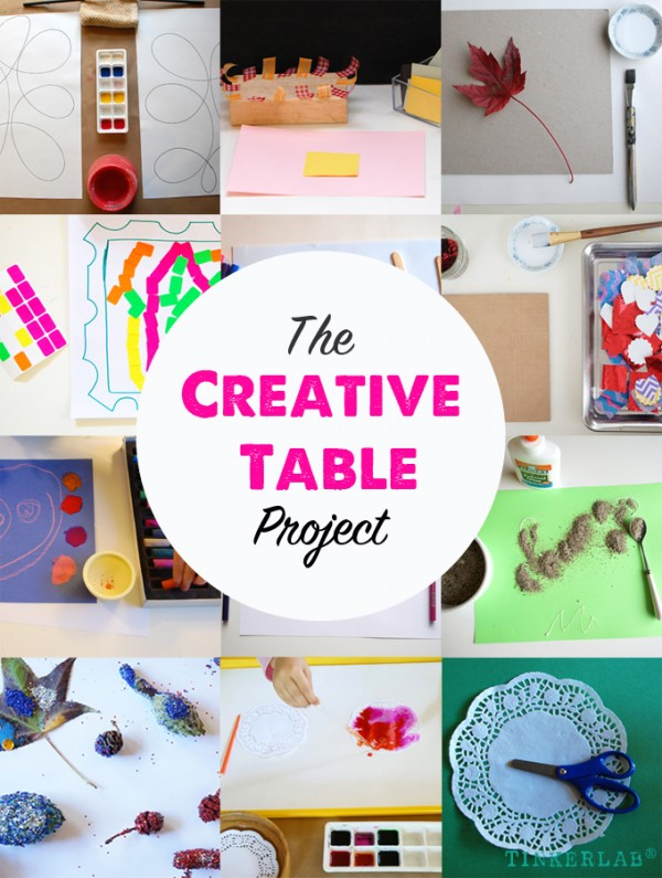 The Creative Table Project on TinkerLab®