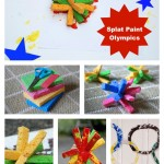 splat paint olympic rings kids