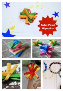 splat paint olympic rings kids