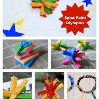 Messy Art: Splat Paint Olympics