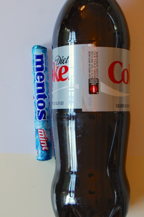 mentos and diet coke