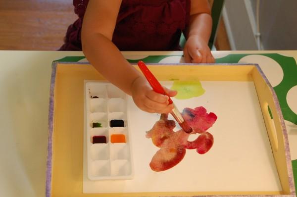 clean painting toddlers preschoolers