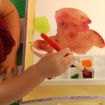 clean and tidy painting with toddlers and preschoolers