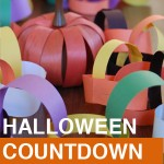Halloween countdown paper chain