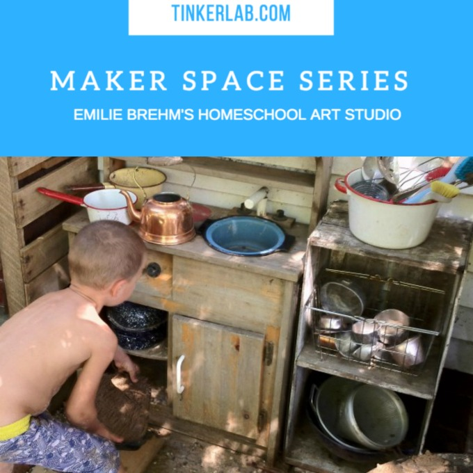 Homeschool art studio on TinkerLab