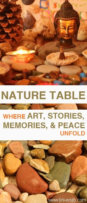 make your own spiritual nature table