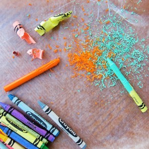 Crayon Shavings :: from Tinkerlab, Creative Experiments for Kids