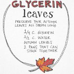 Fall Crafts: Glycerin Leaves