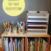 organize an art area for kids