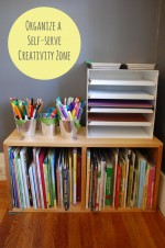 Organize a Self-Serve Creativity Zone