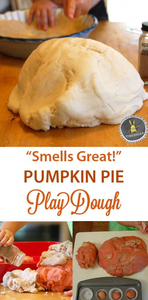 """Smells like Fall"" Pumpkin Play Dough 