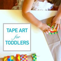 Tape Art for Toddlers