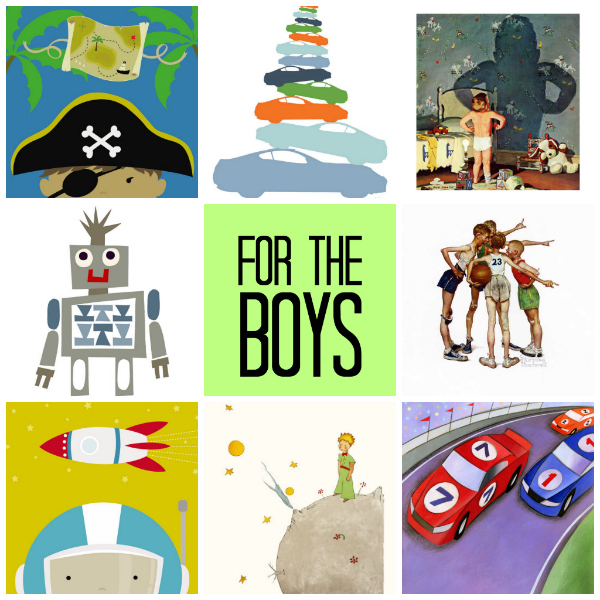 for the boys curated by tinkerlab from art.com
