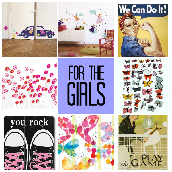 for the girls curated by tinkerlab from art.com