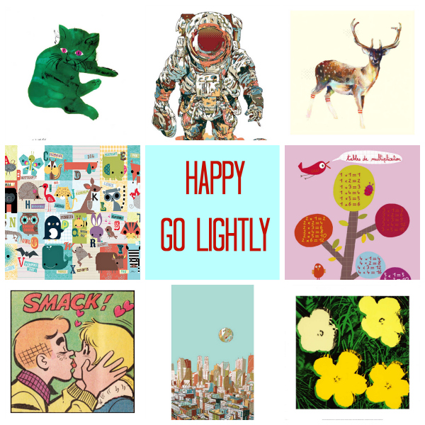 happy go lightly curated by tinkerlab from art.com