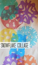 Snowflake Collage Activity for Kids