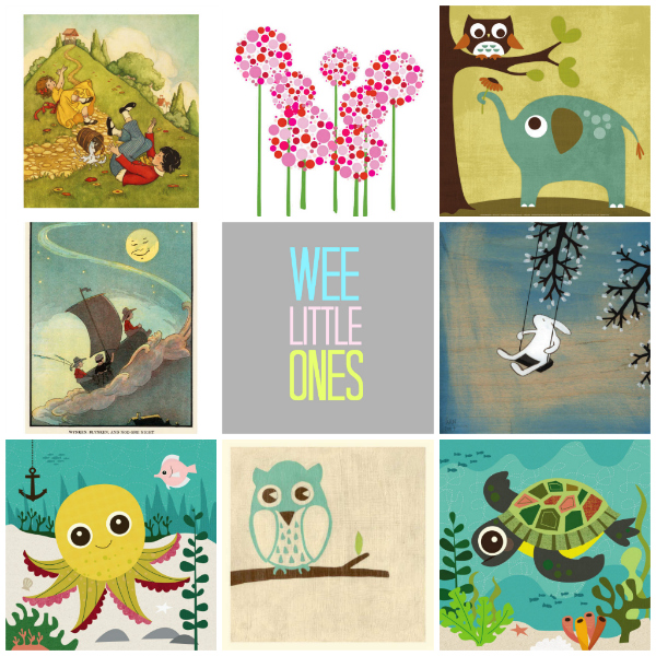 wee little ones collage curated by tinkerlab from art.com